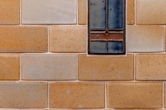 Kitchen tile backsplash close-up  detail image, part of Craftsman style kitchen remodel in St. Paul, MN that includes gourmet kitchen and square island.