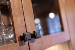 Cabinetry knob close-up  detail image, part of Craftsman style kitchen remodel in St. Paul, MN that includes gourmet kitchen and square island.
