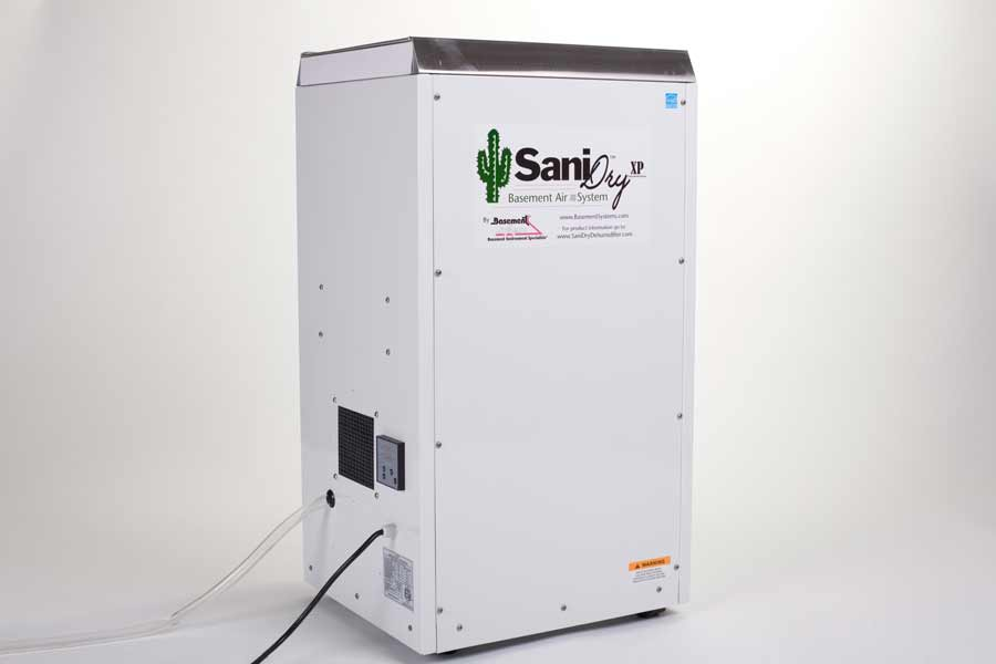 sanidry basement dehumidifier bluestem construction