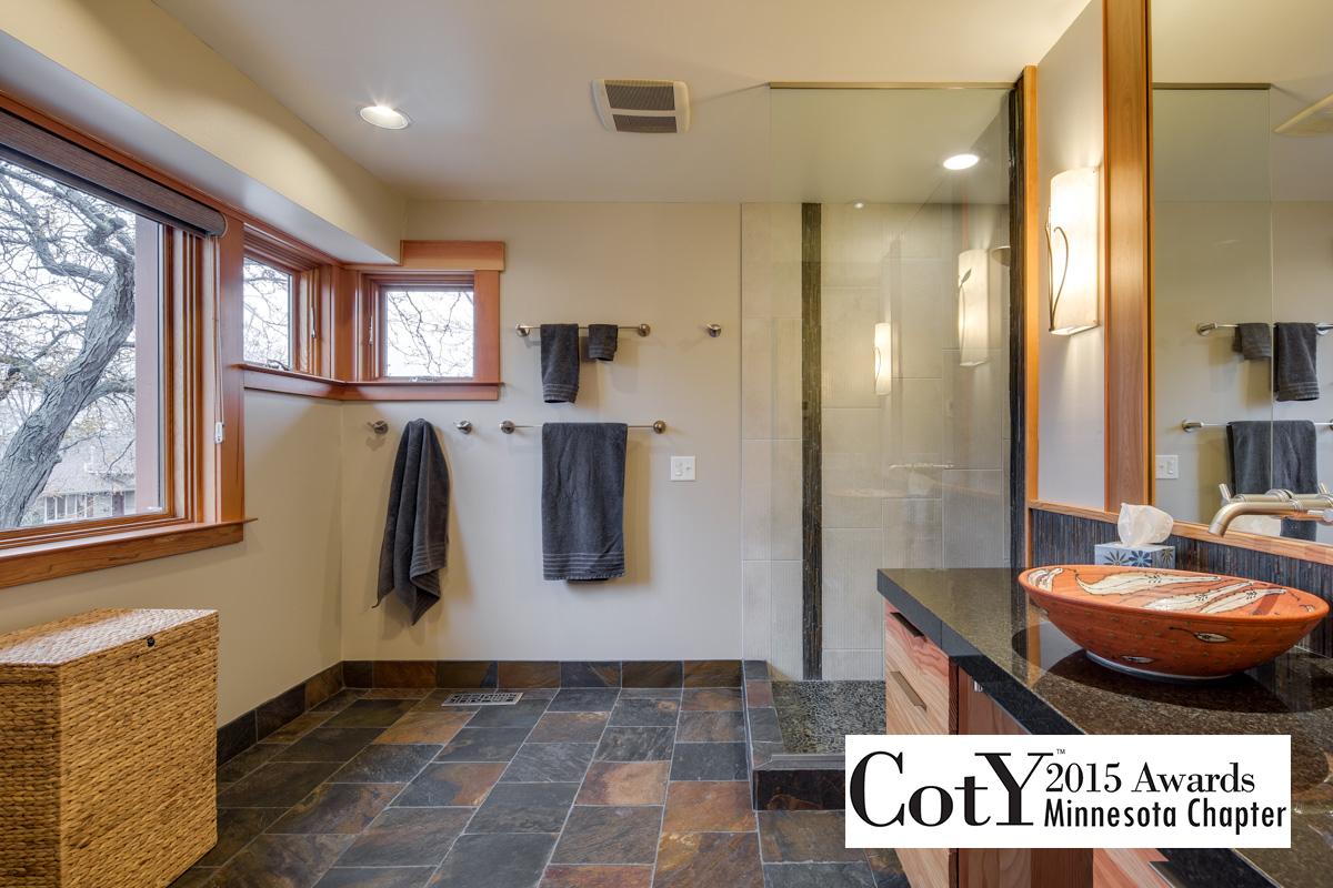 Zen Tranquility in Craftsman Style bathroom
