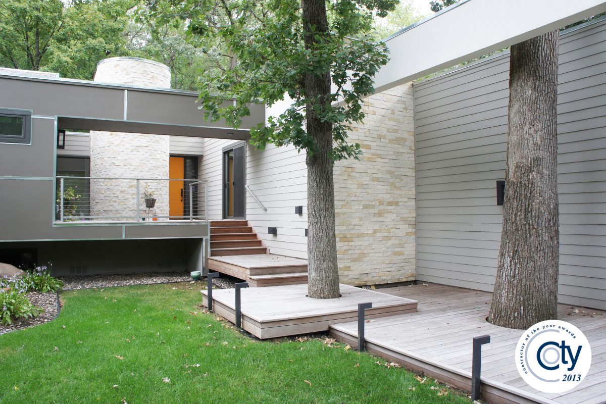 Modern Exterior Redesign - Bluestem Construction
