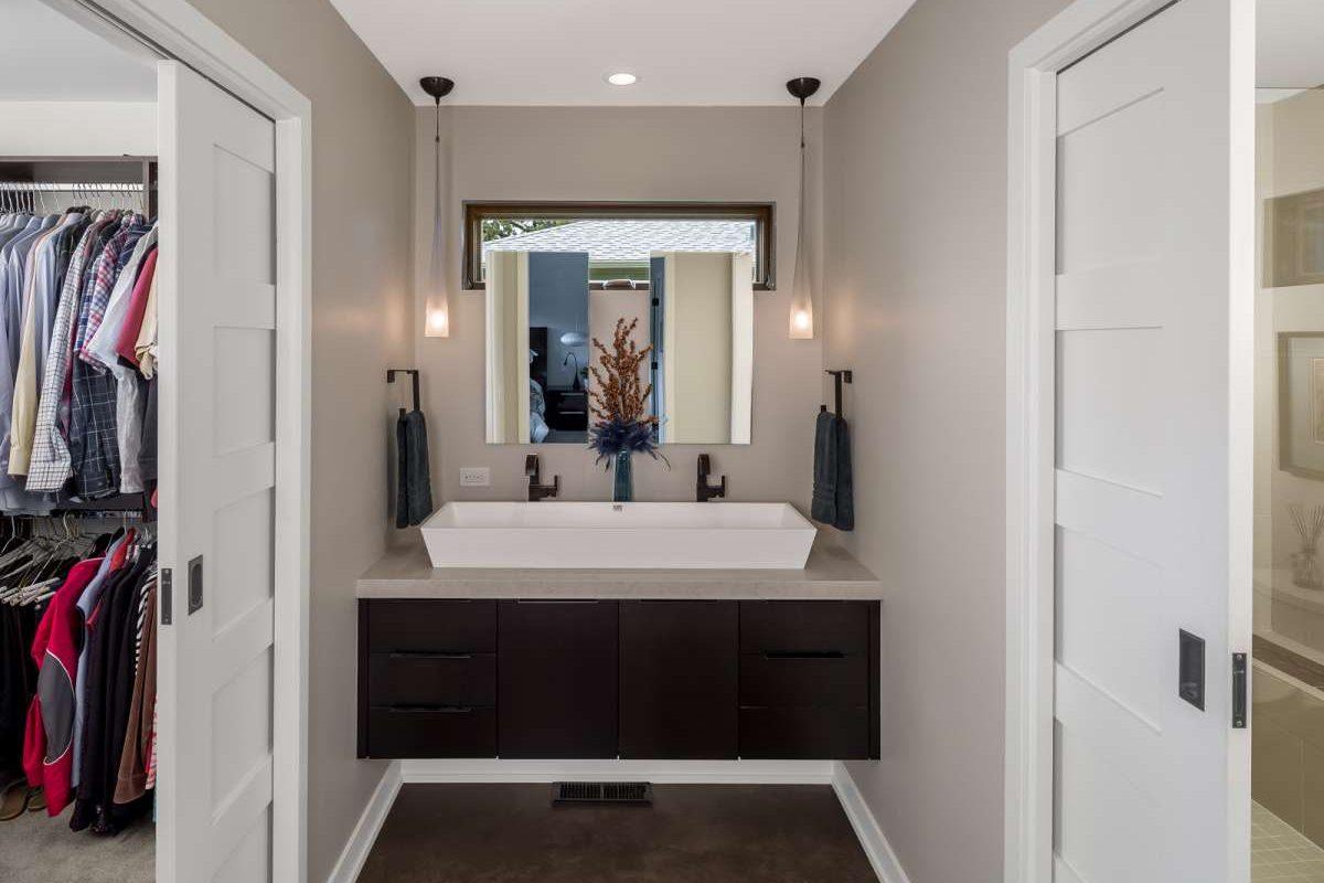 White long bathroom sink