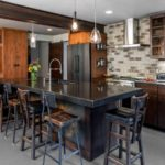 Steampunk meets Modern Kitchen island