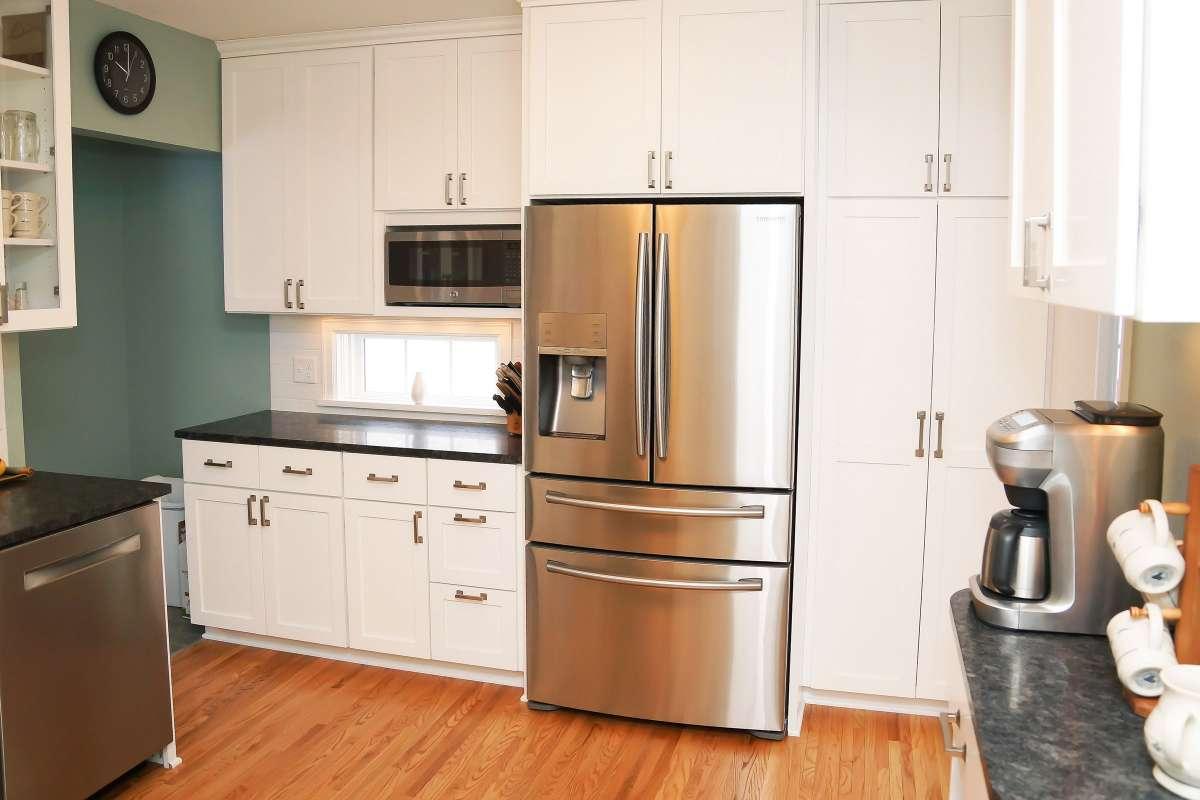 Modern Kitchen with Refrigerator