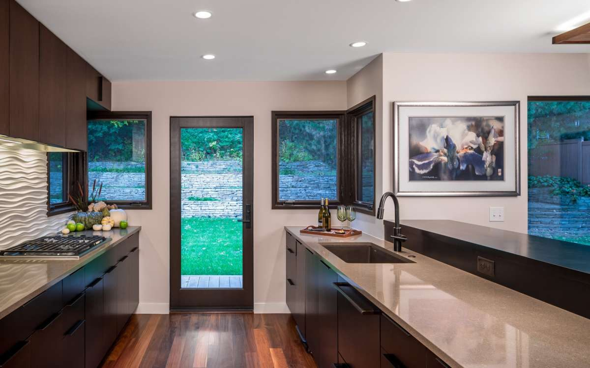 kitchen remodel looking to outside