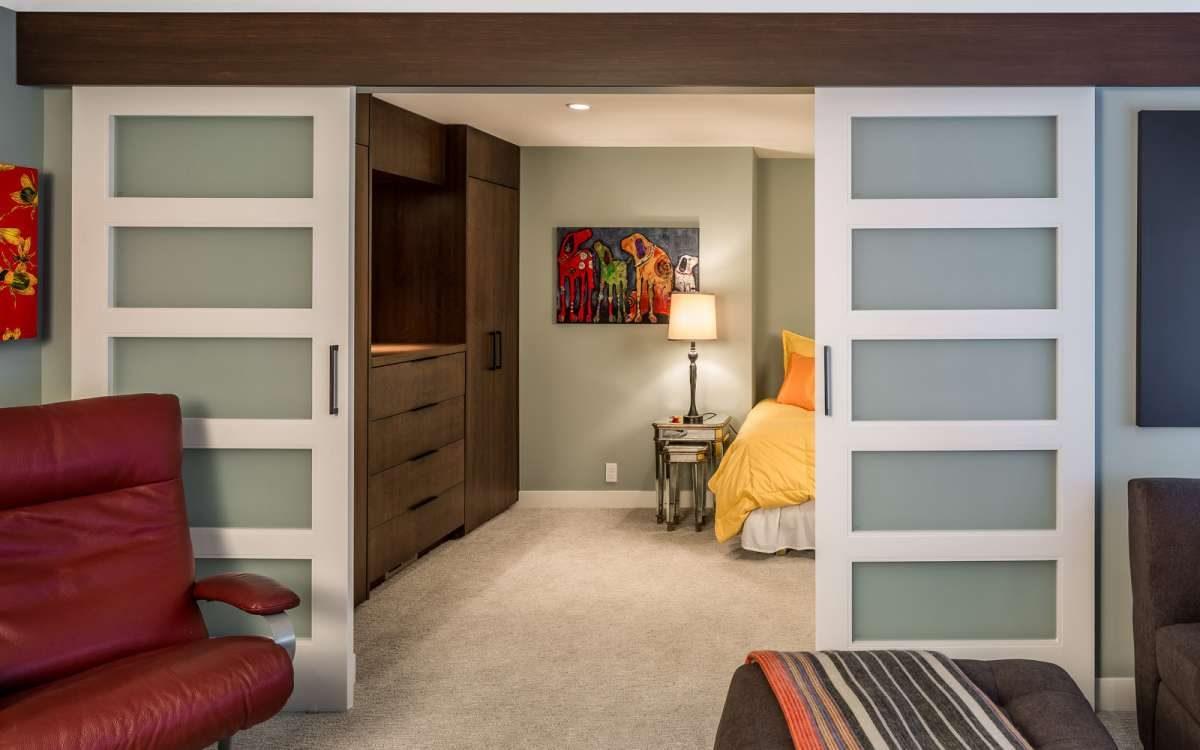 new bedroom with sliding doors