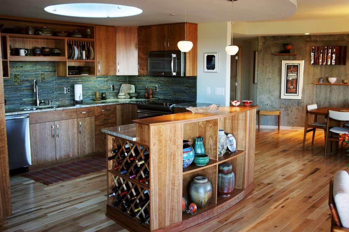 Round Condo Resurrection kitchen after