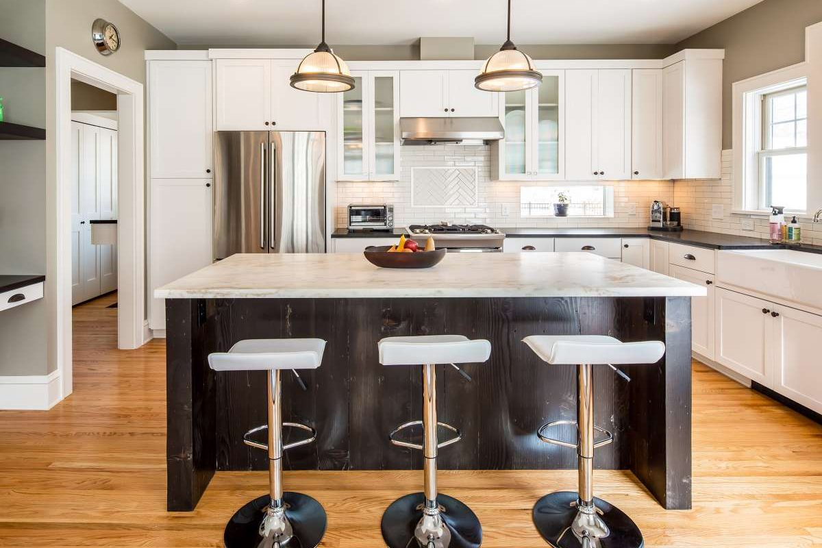 Fusion Kitchen Addition with island