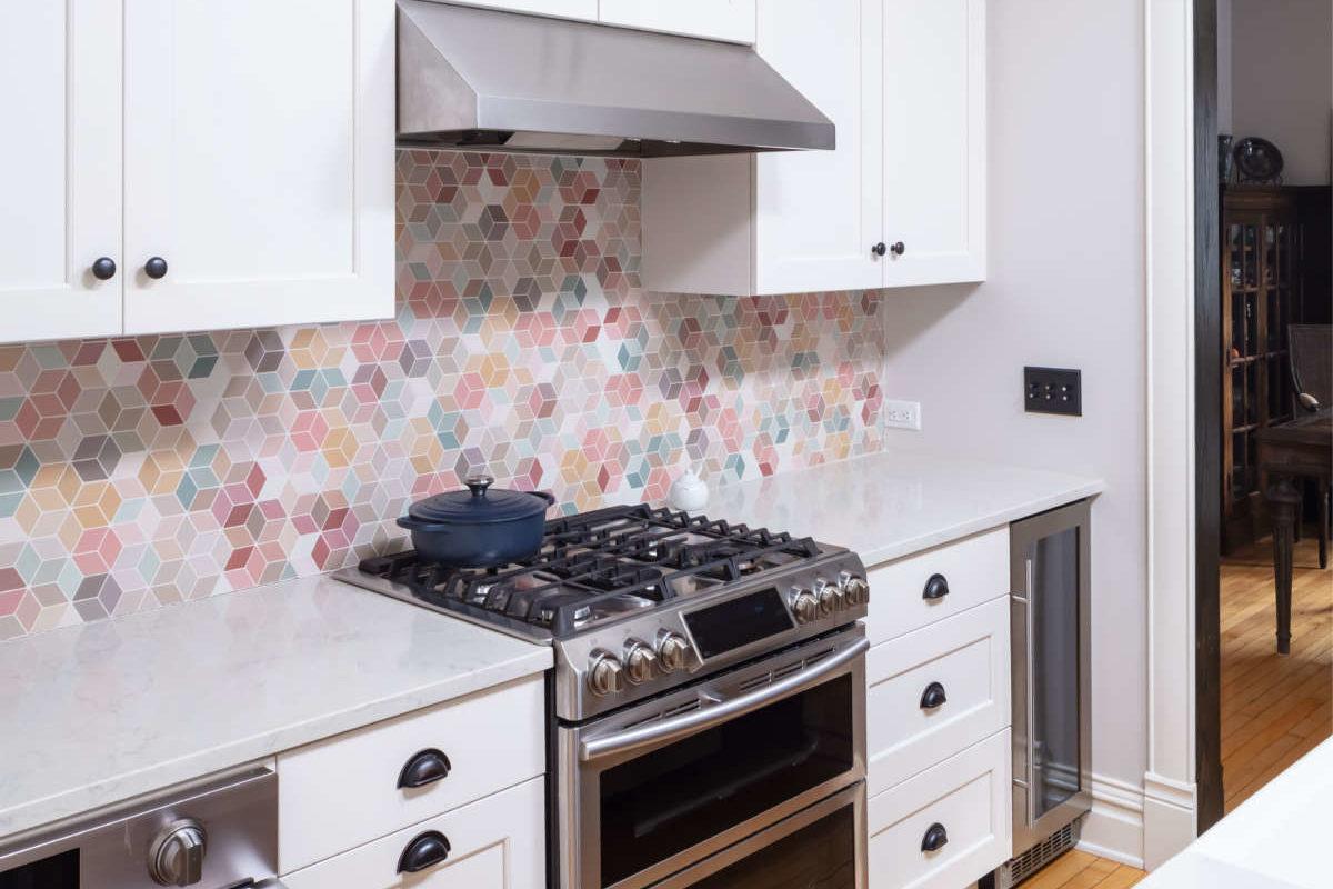 stove in kitchen