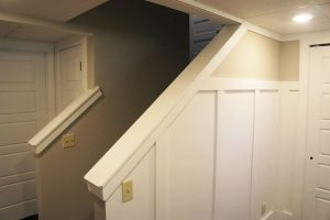 basement finishing wall system board and batten walls wide trim