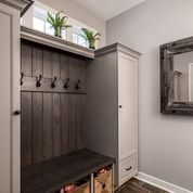 Mudroom with plants