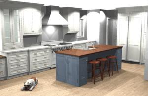 3D Design Image from kitchen remodel